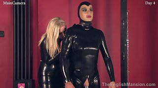 Kinky latex femdom porn video with perverted bit of all right