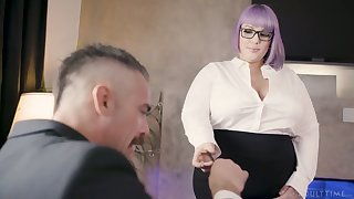 Nasty BBW secretary seduces coupled with fucks her handsome boss Charles Dera