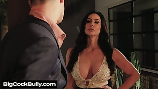 Depraved big breasted Kendra Lust provides stud with BJ before steamy mating
